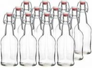 Clear Swing Top Bottles 500ML (12 Pack)