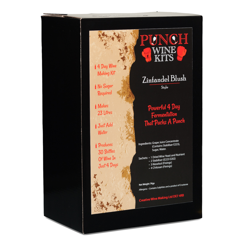 Punch Zinfandel Blush 30 Bottle Wine Kit