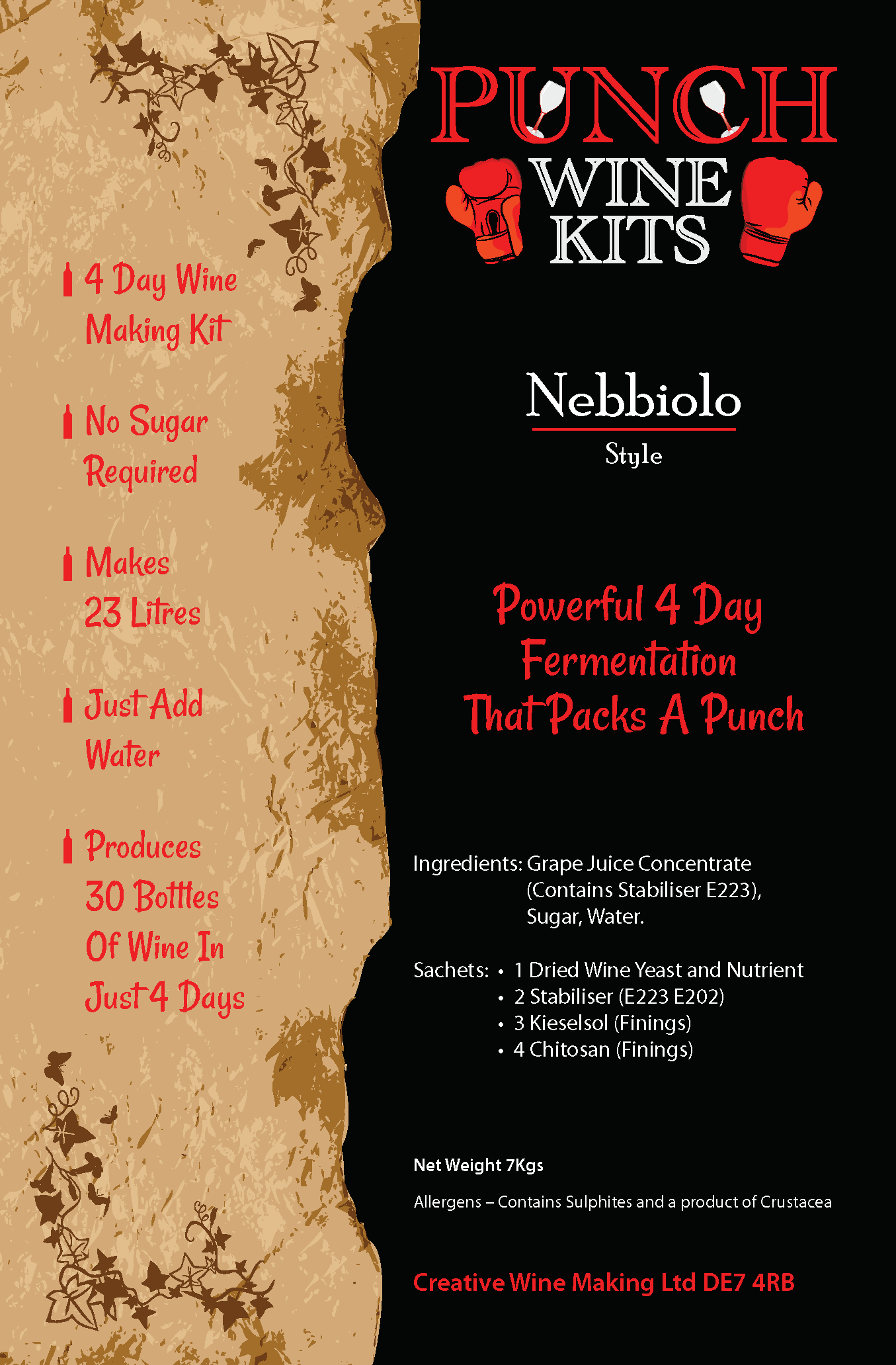 Punch Nebbiolo 30 Bottle Wine Kit