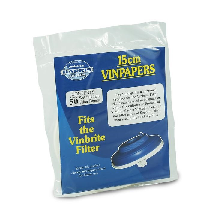 Harris Filter Vin Papers (15cm Dia)