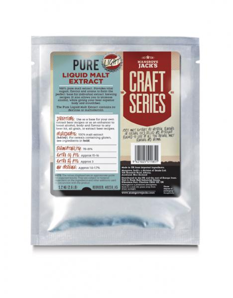 Mangrove Jacks Pure Liquid Malt Extract Light 1.2KG